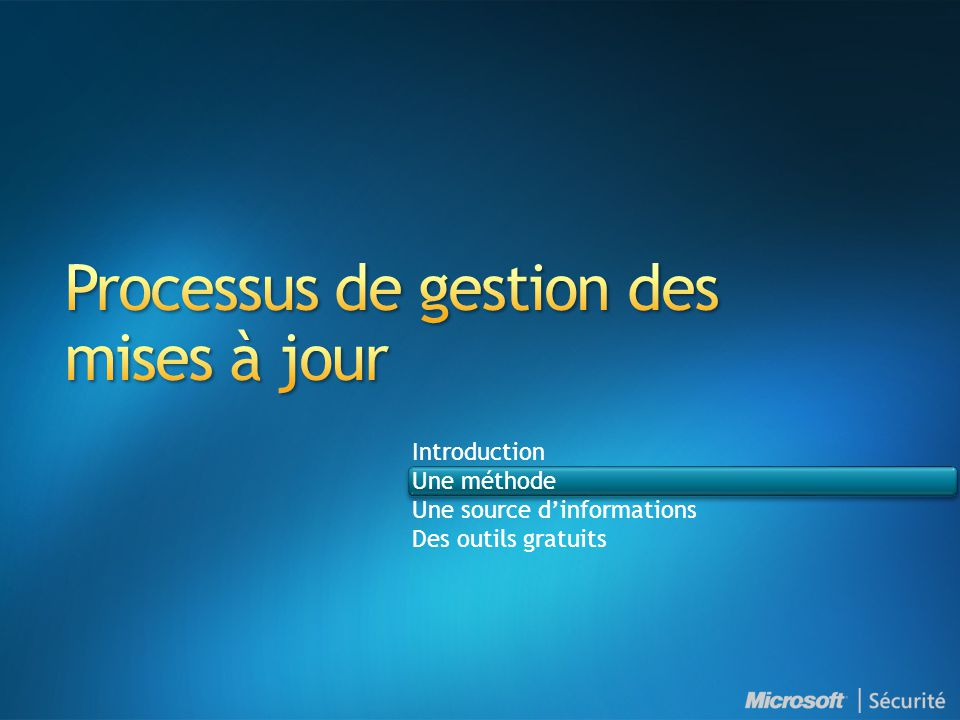 Microsoft Operations Framework —Conseils pour la gestion des opérations Recommendations de gestion des services Évaluation des services Amélioration des services