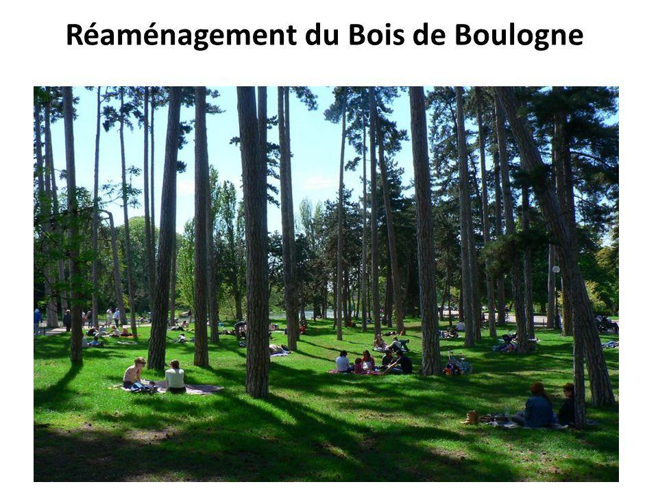 Réaménagement du Bois de Boulogne
