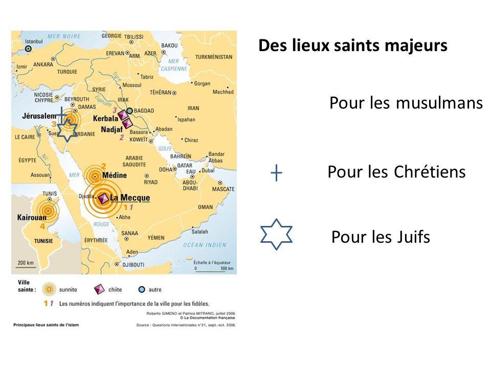Des lieux saints majeurs Pour les musulmans Pour les Chrétiens Pour les Juifs