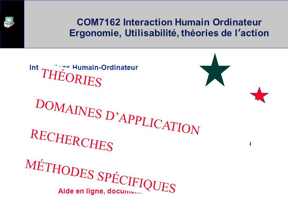 COM7162 Interaction Humain Ordinateur Ergonomie, Utilisabilité, théories de l'action Interactions Humain-Ordinateur Interfaces Jeux Interactions intel