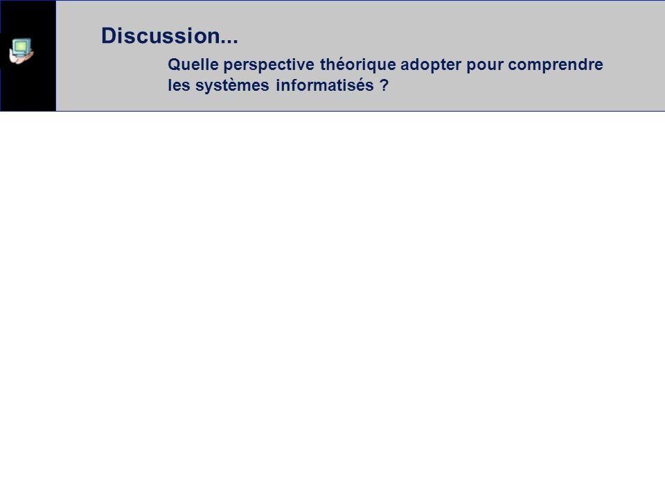 Discussion IHM et Communication  Les systèmes encadrent la communication ?  Les usagers s'approprient le système ?  Au delà des mots comment analys