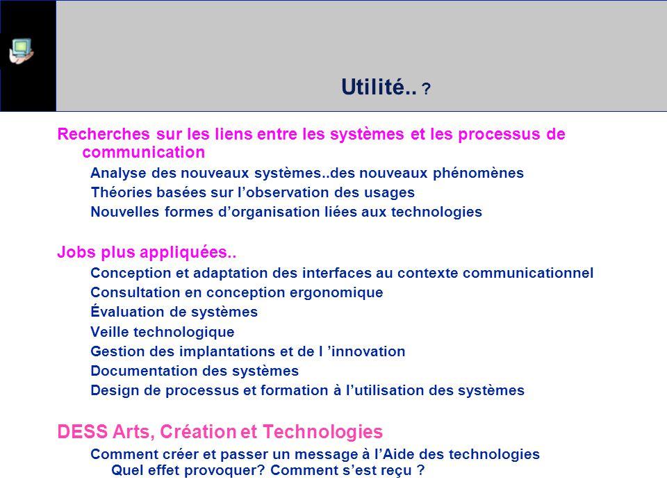 Discussion... Quelle perspective théorique adopter pour comprendre les systèmes informatisés ?