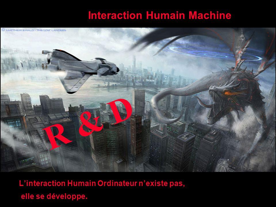 Interaction Humain Machine L'interaction Humain Ordinateur n'existe pas, elle se développe. R & D