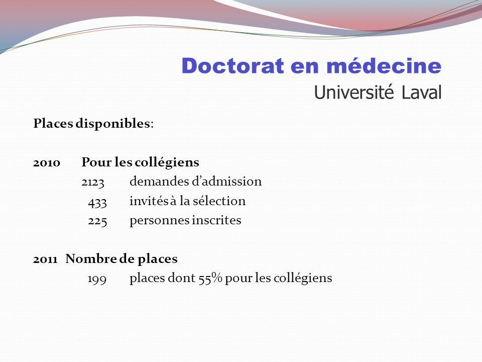 Doctorat en médecine Université de Sherbrooke Particularités: APP: Apprentissage par problèmes Campus rattaché au CHUS Trois campus où se donne la méd