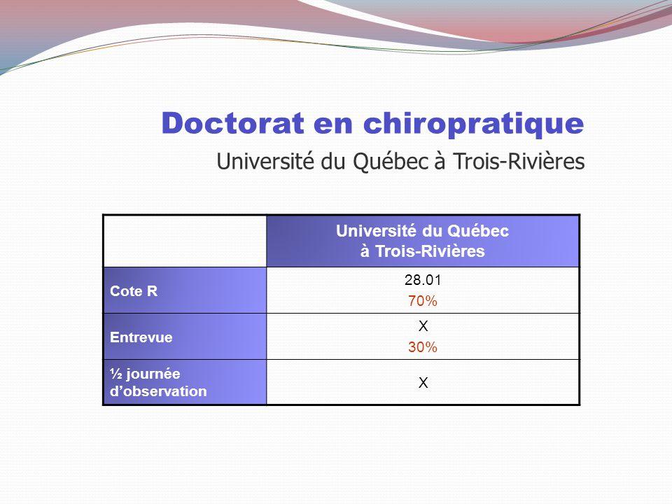Pratique Sage-femme Université du Québec à Trois-Rivières Particularités Durée de 4 ans, 3 trimestres sur campus et 6 trimestres en milieux pratique S