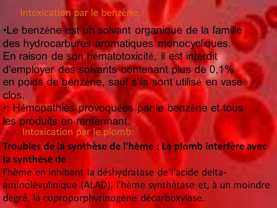 •Le benz è ne est un solvant organique de la famille des hydrocarbures aromatiques monocycliques. En raison de son h é matotoxicit é, il est interdit