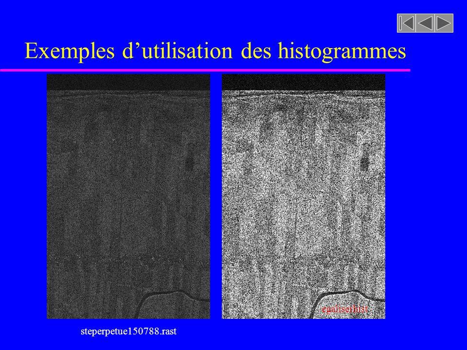 Détection des changements [soustraction d 'images] u Transformation linéaire sur l'histogramme des différences
