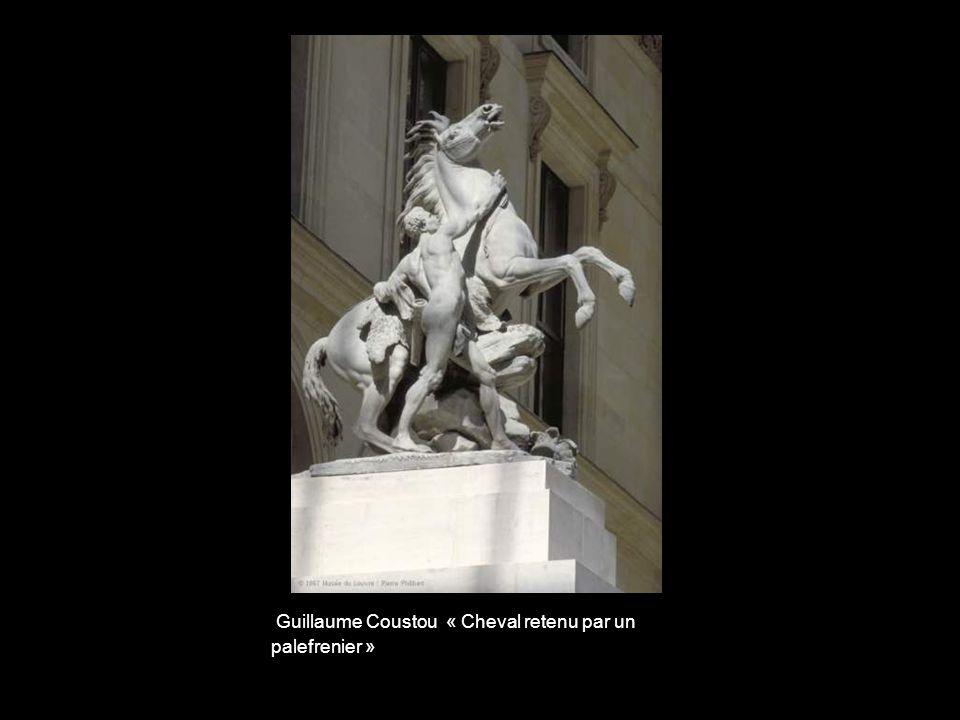 Guillaume Coustou « Cheval retenu par un palefrenier »