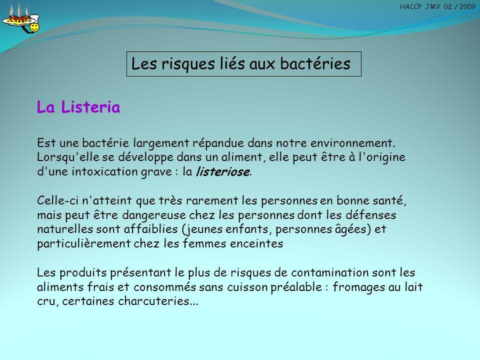 La Listeria Est une bactérie largement répandue dans notre environnement. Lorsqu'elle se développe dans un aliment, elle peut être à l'origine d'une i
