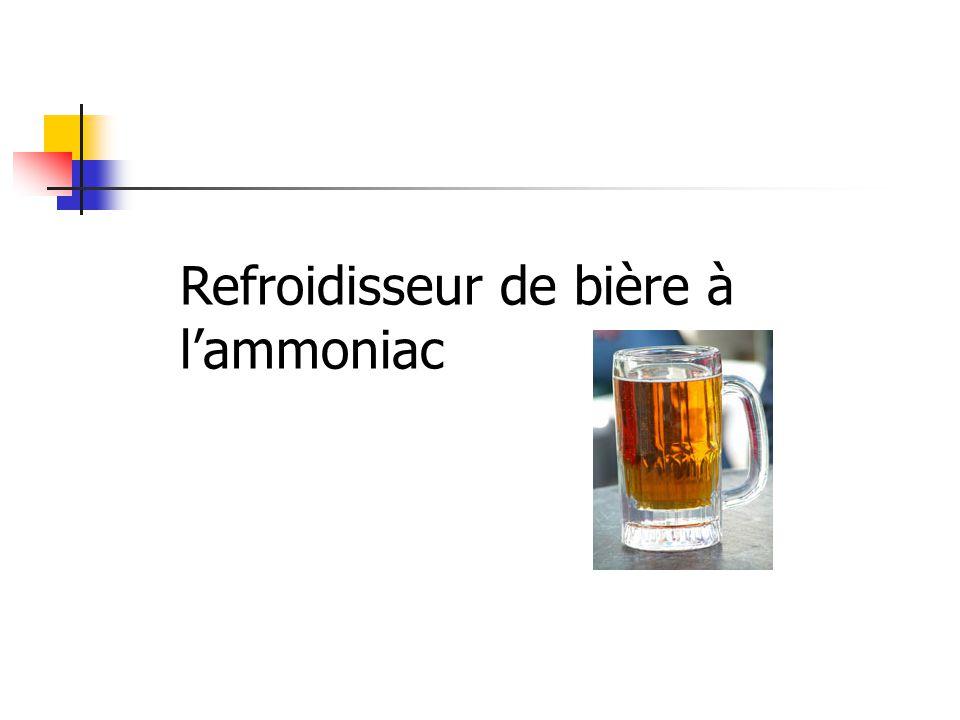 Refroidisseur de bière à l'ammoniac