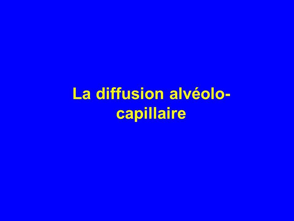La diffusion alvéolo- capillaire