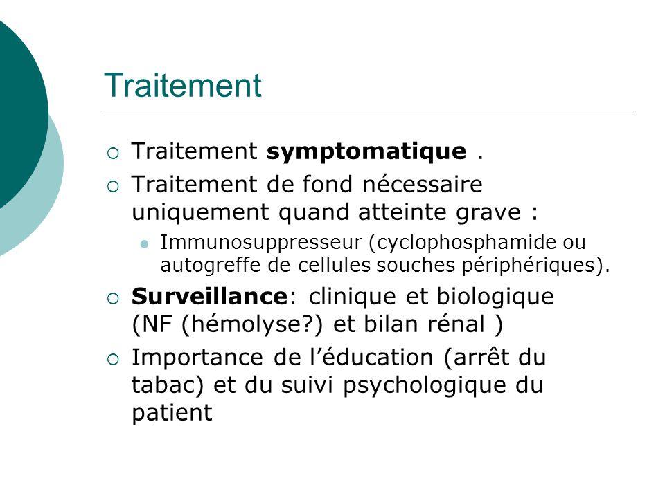 Traitement  Traitement symptomatique.