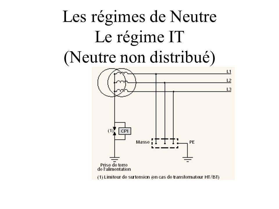 Les régimes de Neutre Le régime IT (Neutre non distribué)