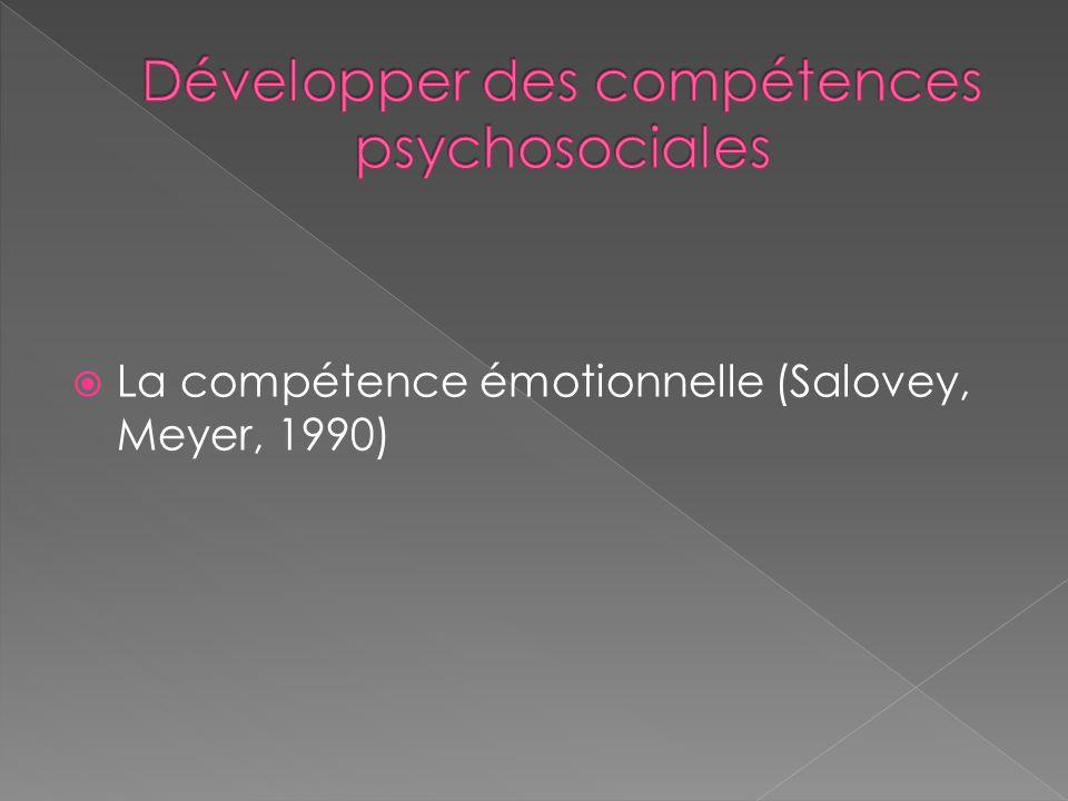  La compétence émotionnelle (Salovey, Meyer, 1990)