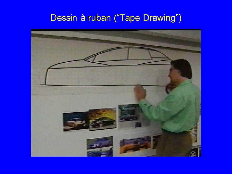 """Dessin à ruban (""""Tape Drawing"""")"""