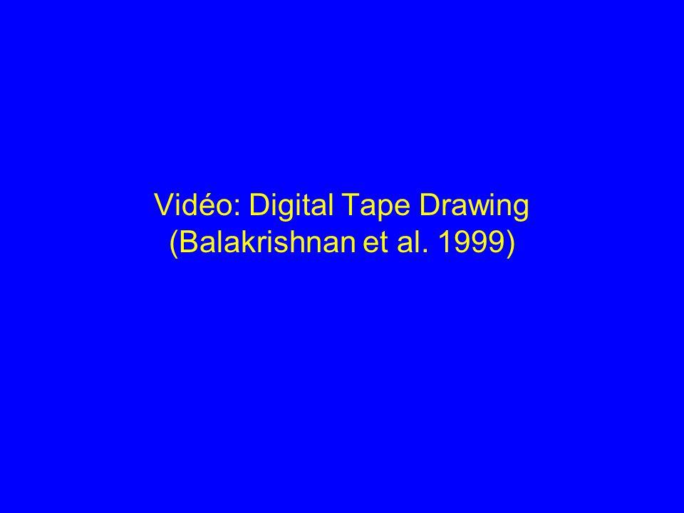 Vidéo: Digital Tape Drawing (Balakrishnan et al. 1999)