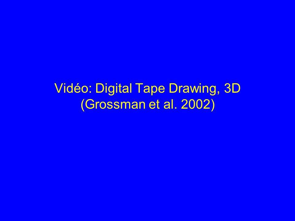 Vidéo: Digital Tape Drawing, 3D (Grossman et al. 2002)