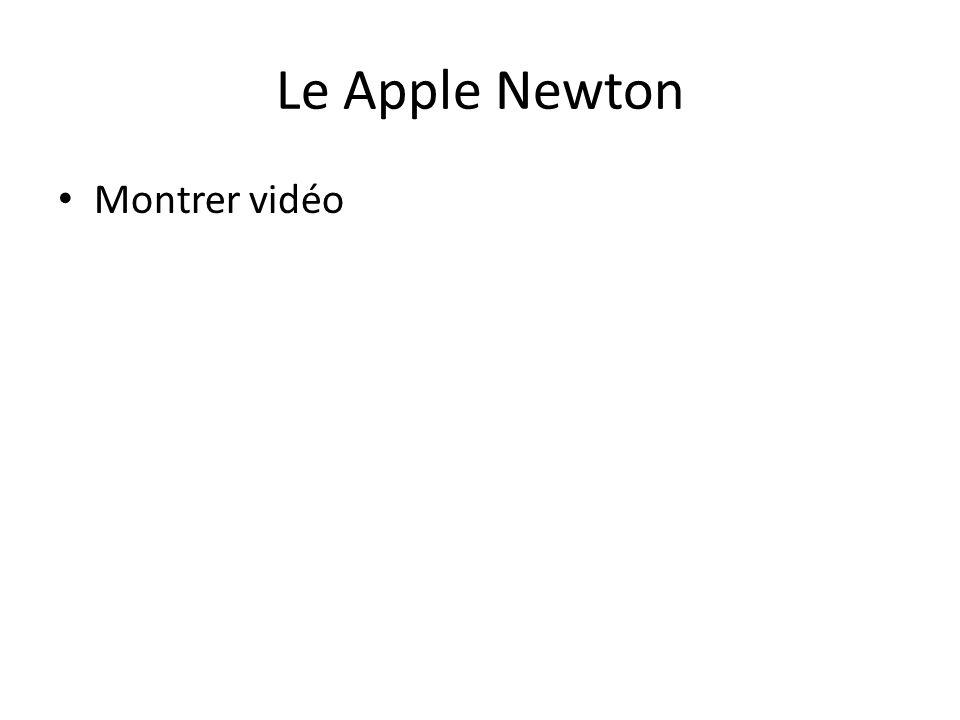Le Apple Newton • Montrer vidéo