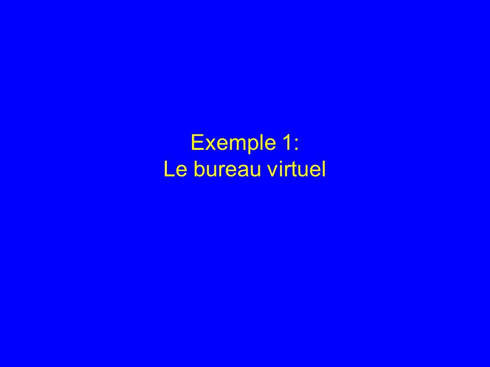 Exemple 1: Le bureau virtuel