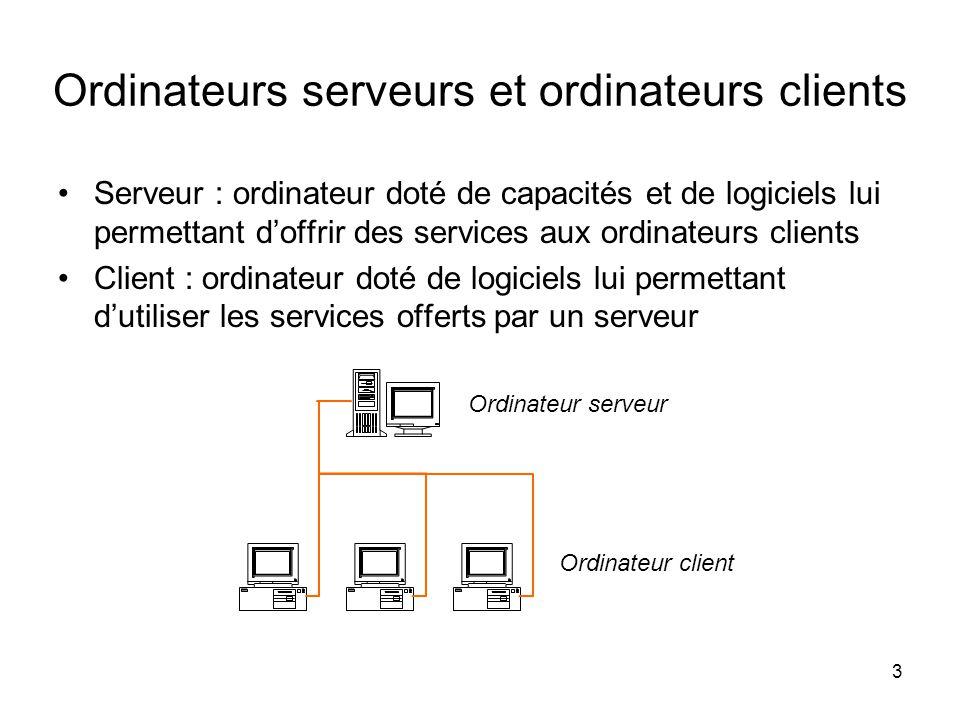 4 •Intranet : réseau interne d'une organisation •Services : gestion de file d'impression ou gestion de données Intranet - Logiciels serveur