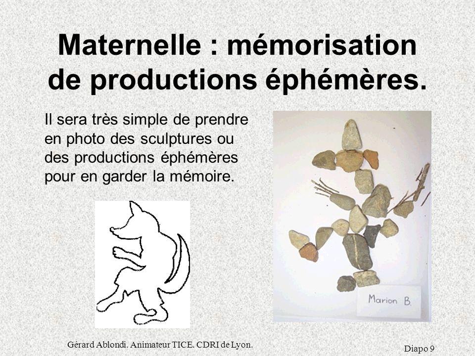 Gérard Ablondi.Animateur TICE. CDRI de Lyon.