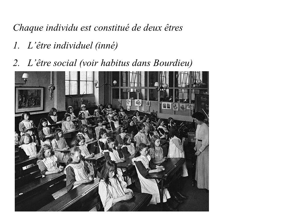 • L'éducation est nécéssaire à la cohésion sociale, mais il faut aussi qu'elle maintienne une certaine hétérogéneité  elle est nécéssaire à la survie