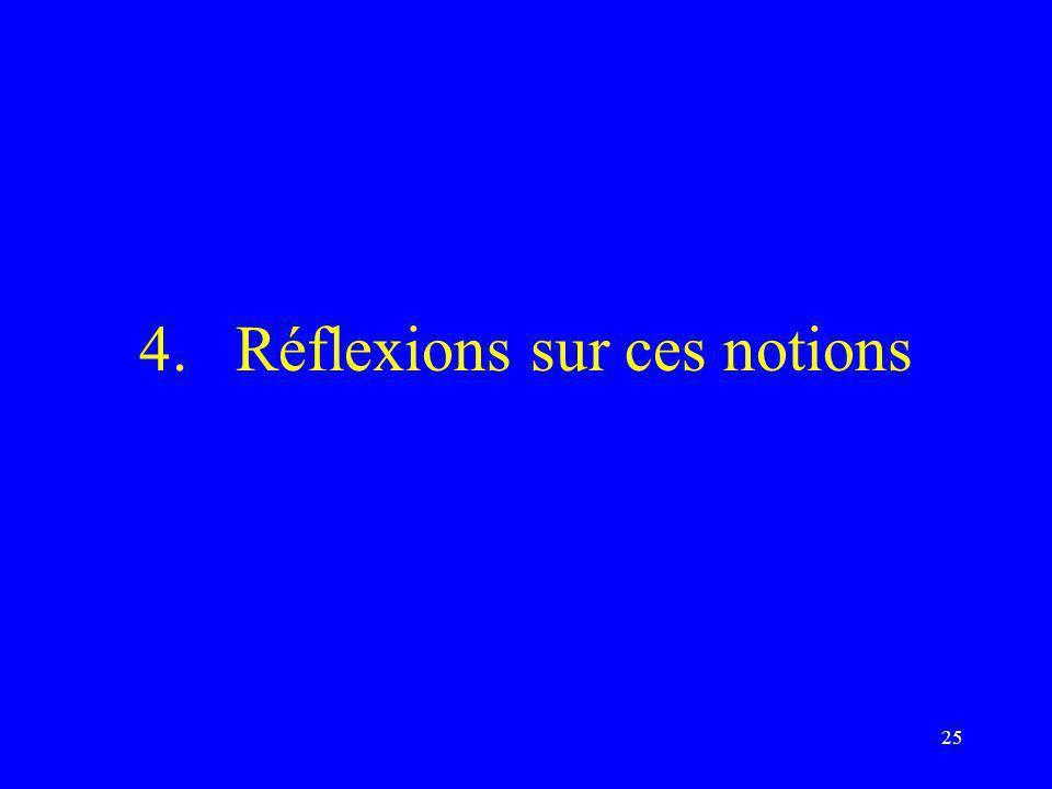 25 4.Réflexions sur ces notions