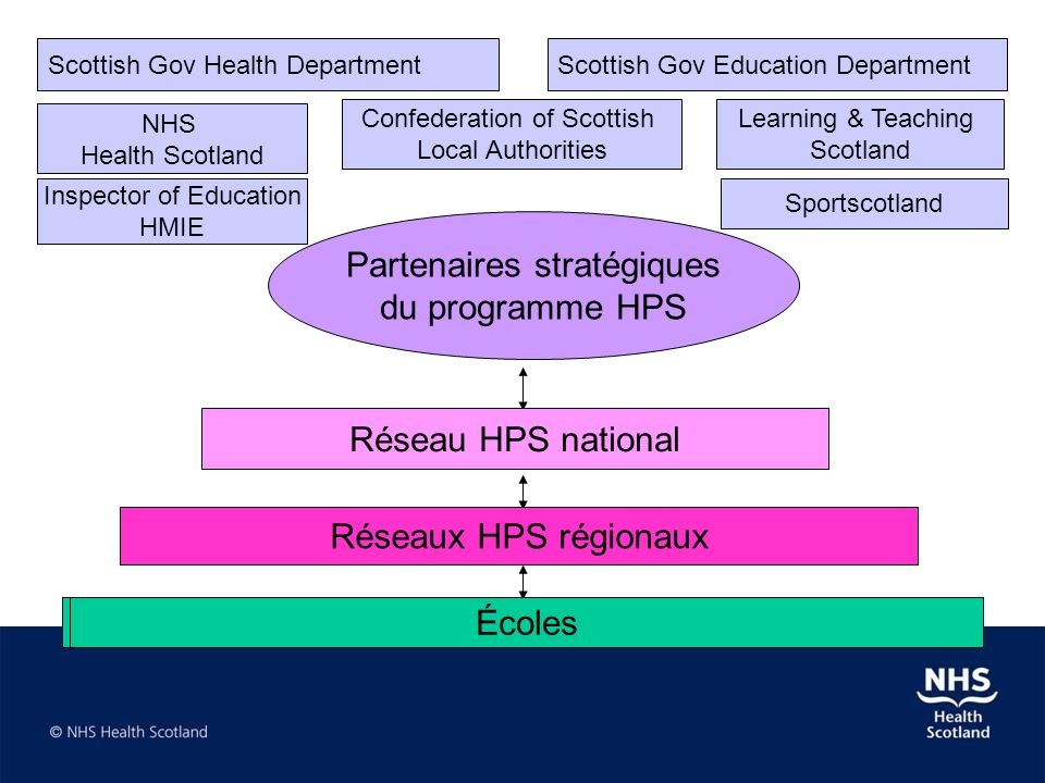Scottish Gov Health DepartmentScottish Gov Education Department Learning & Teaching Scotland NHS Health Scotland Confederation of Scottish Local Autho