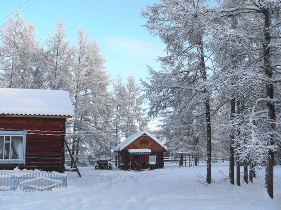 Le matin que diriez-vous en constatant que la température extérieure est de -71° C'est ce qui arriverait si vous viviez à Oymyakon.
