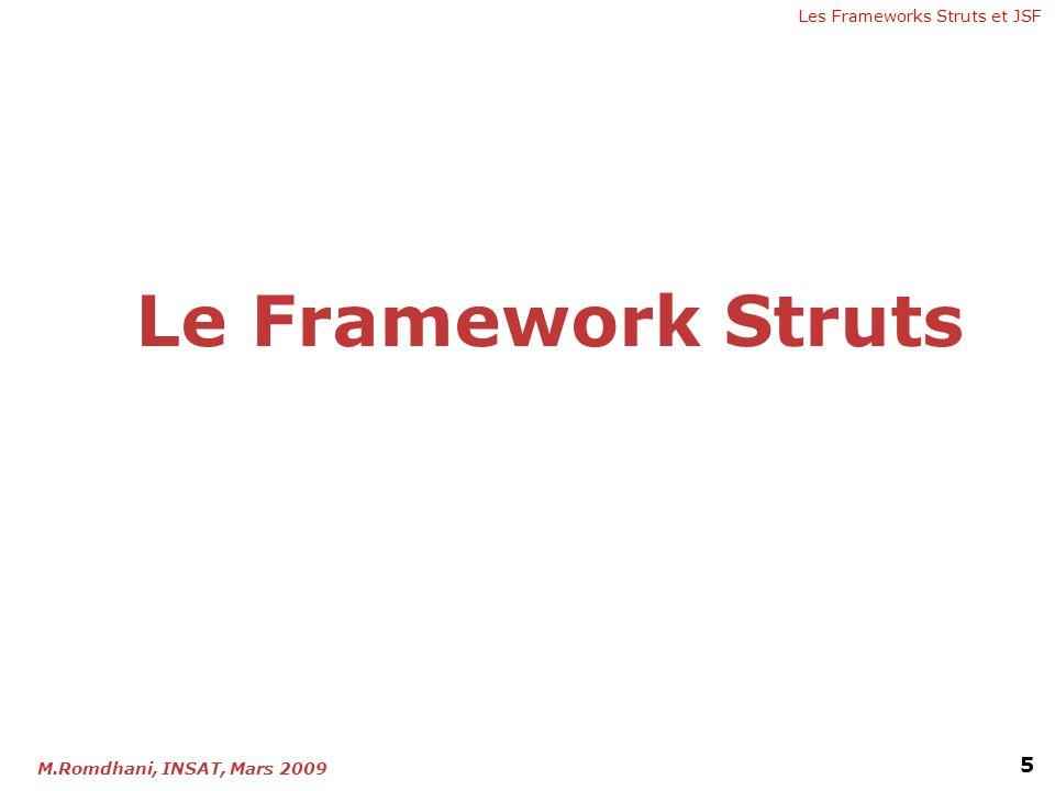 Les Frameworks Struts et JSF 5 M.Romdhani, INSAT, Mars 2009 Le Framework Struts