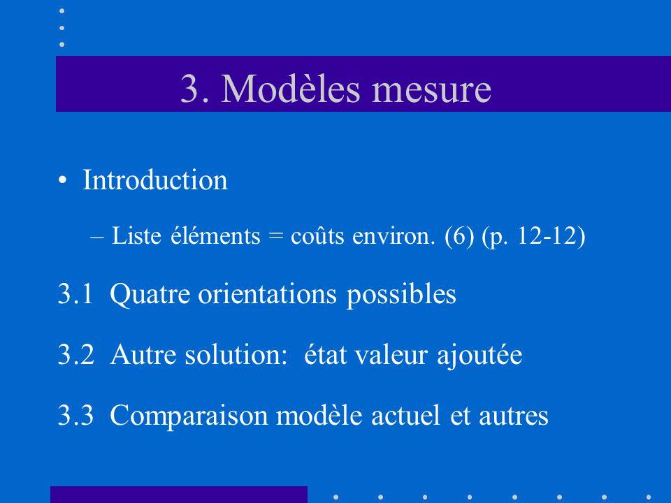 3. Modèles mesure •Introduction –Liste éléments = coûts environ.