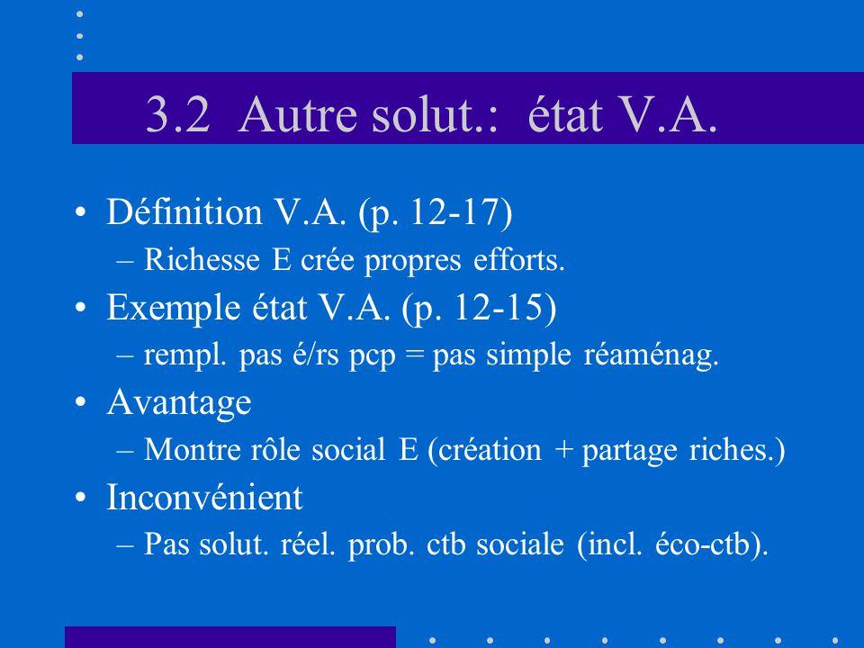3.2 Autre solut.: état V.A. •Définition V.A. (p.
