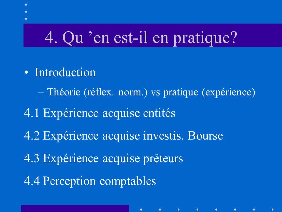 4. Qu 'en est-il en pratique. •Introduction –Théorie (réflex.