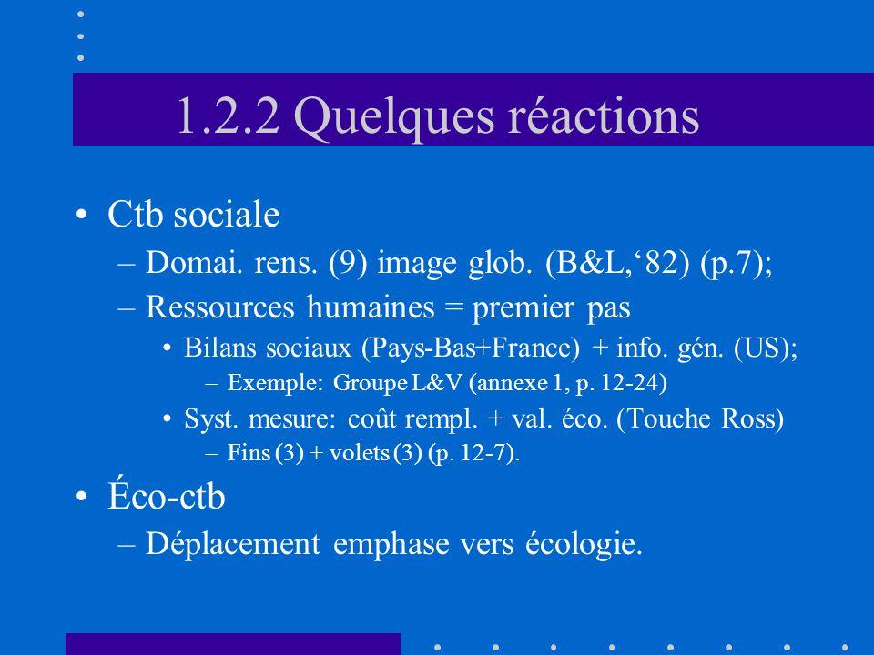 3.1.4 Mes.mon. incidence glob. •Définition (p.