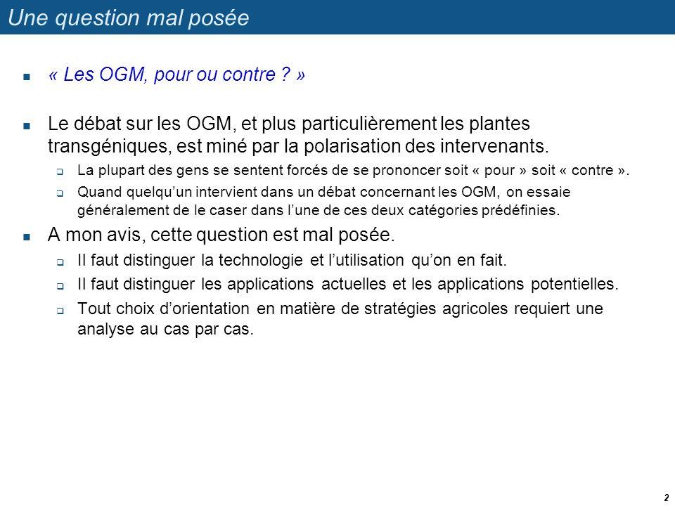 Rapport de l Académie des Sciences de France  Personnellement, je trouve le rapport de l Académie des Sciences biaisé.