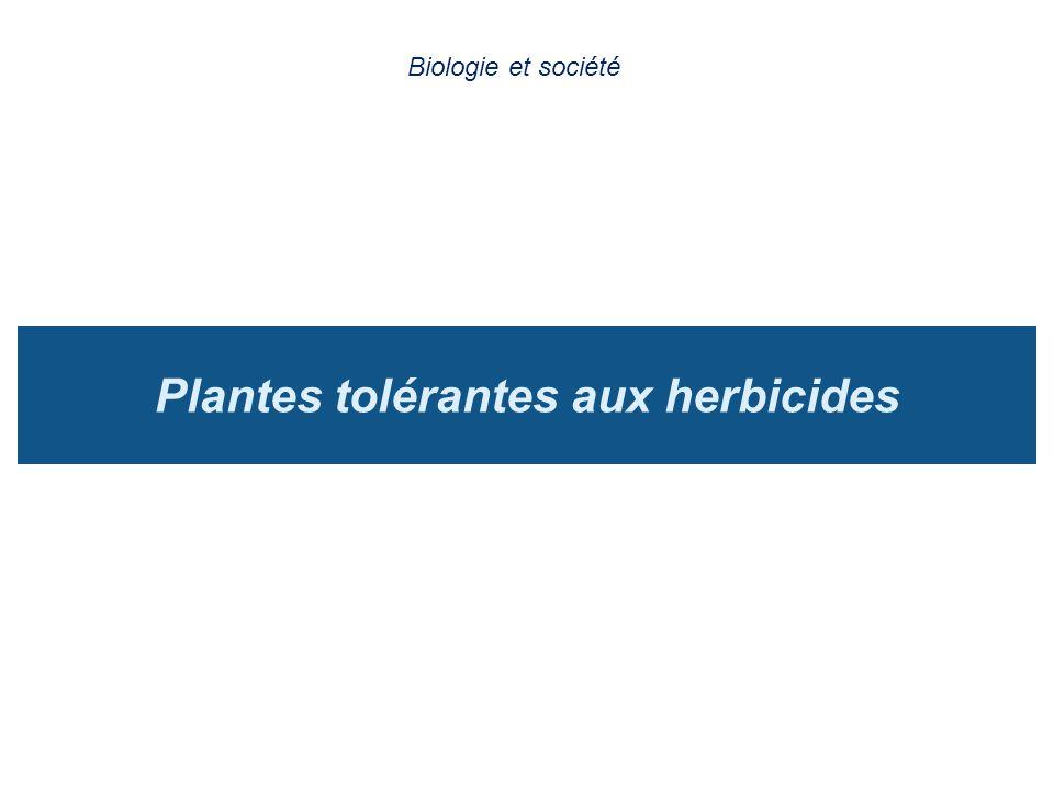 Plantes tolérantes aux herbicides Biologie et société