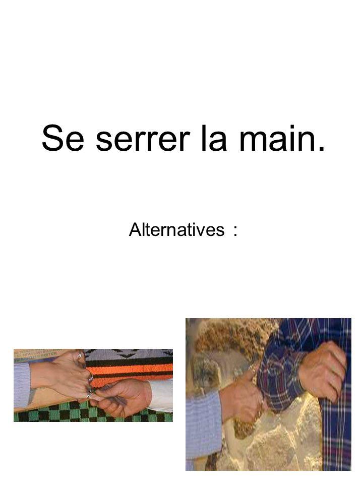 Se serrer la main. Alternatives :