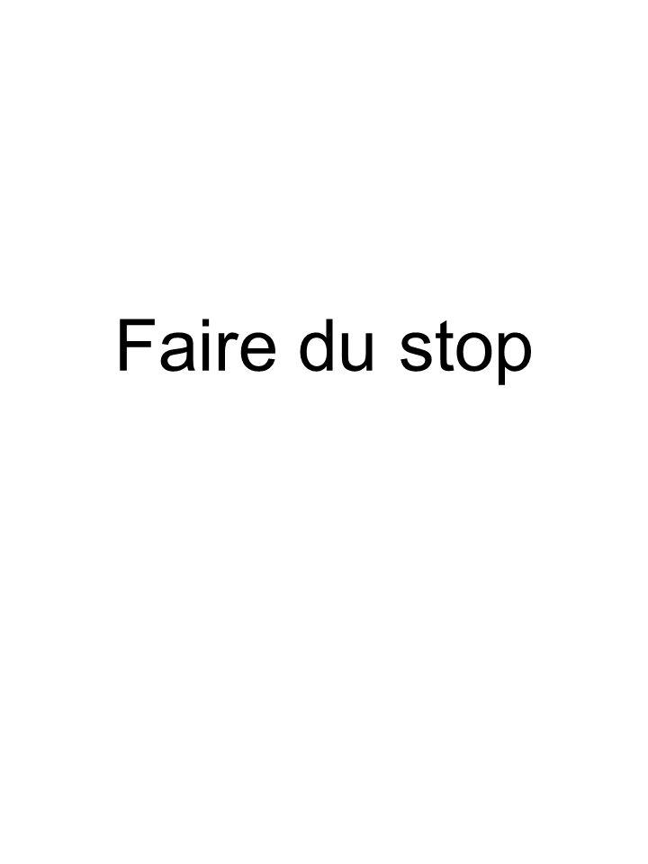 Faire du stop