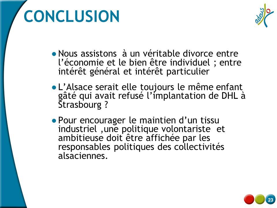 23 CONCLUSION ● Nous assistons à un véritable divorce entre l'économie et le bien être individuel ; entre intérêt général et intérêt particulier ● L'A