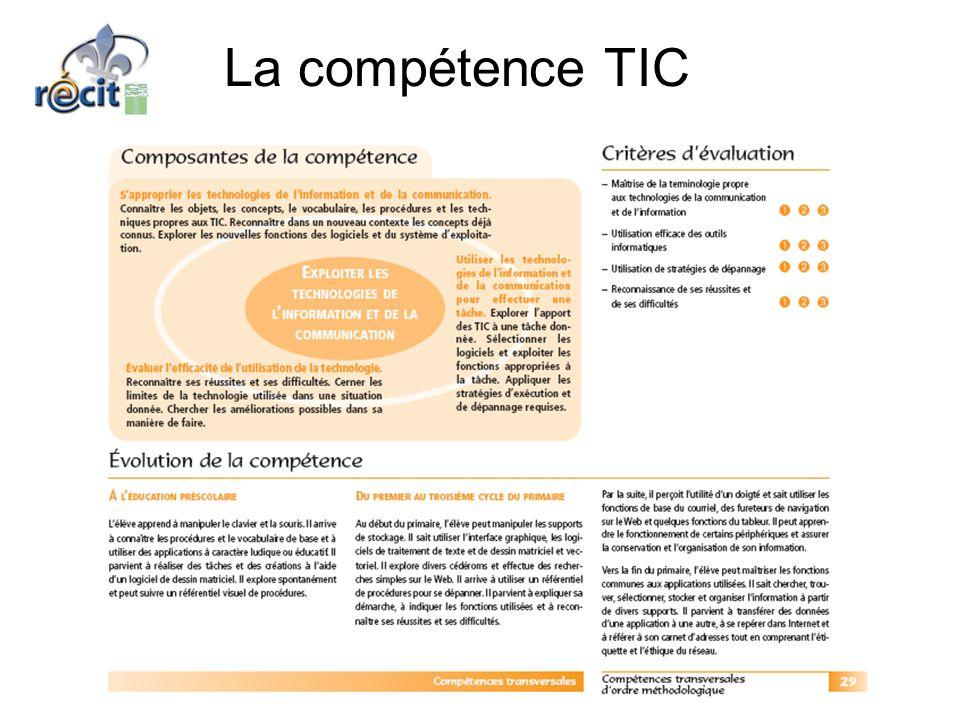 La compétence TIC