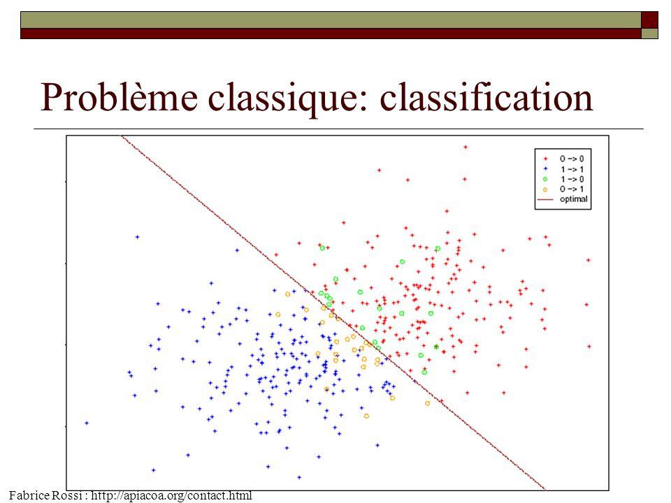 Problème classique: classification Fabrice Rossi : http://apiacoa.org/contact.html