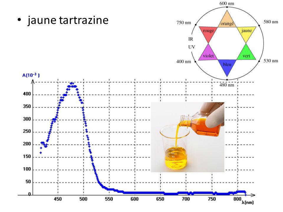 • jaune tartrazine