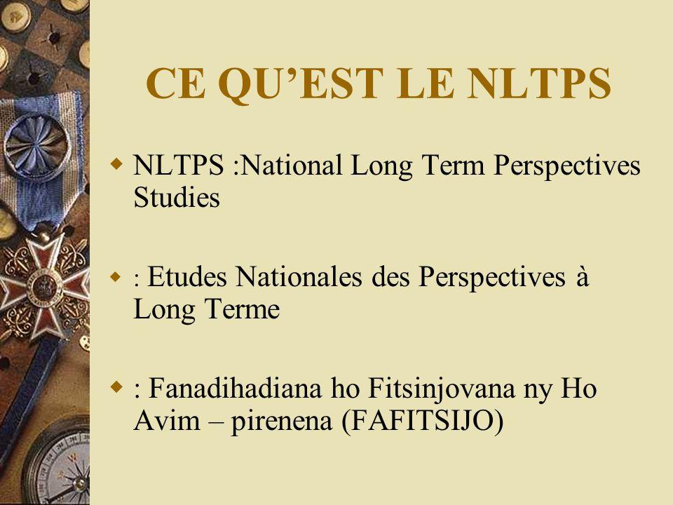 CE QU'EST LE NLTPS  NLTPS :National Long Term Perspectives Studies  : Etudes Nationales des Perspectives à Long Terme  : Fanadihadiana ho Fitsinjov