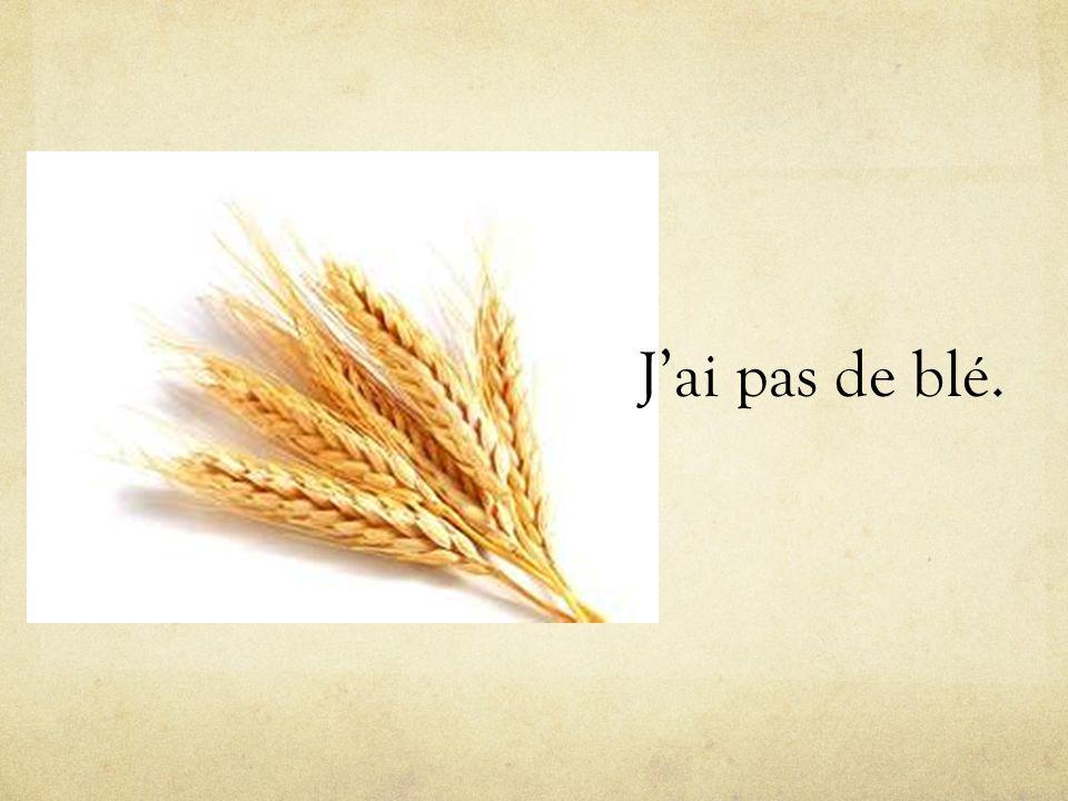 J'ai pas de blé.