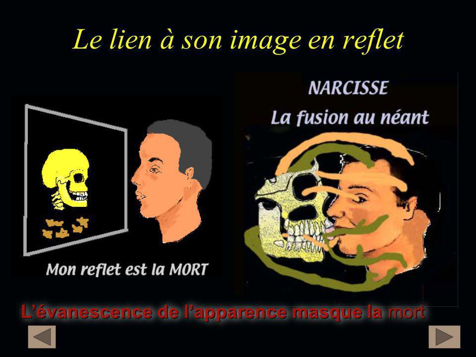 Le lien à son image en reflet L'évanescence de l'apparence masque la mort