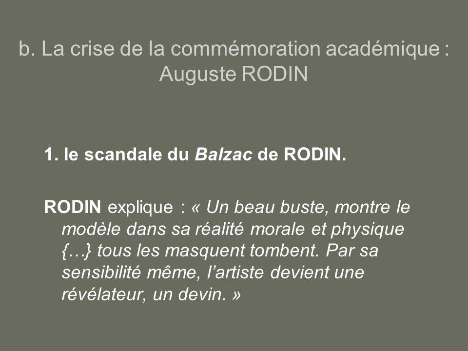 b.La crise de la commémoration académique : Auguste RODIN 1.