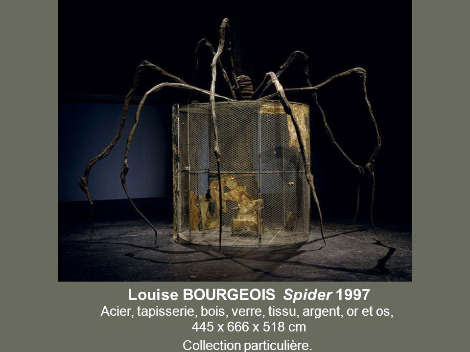 Louise BOURGEOIS Spider 1997 Acier, tapisserie, bois, verre, tissu, argent, or et os, 445 x 666 x 518 cm Collection particulière.