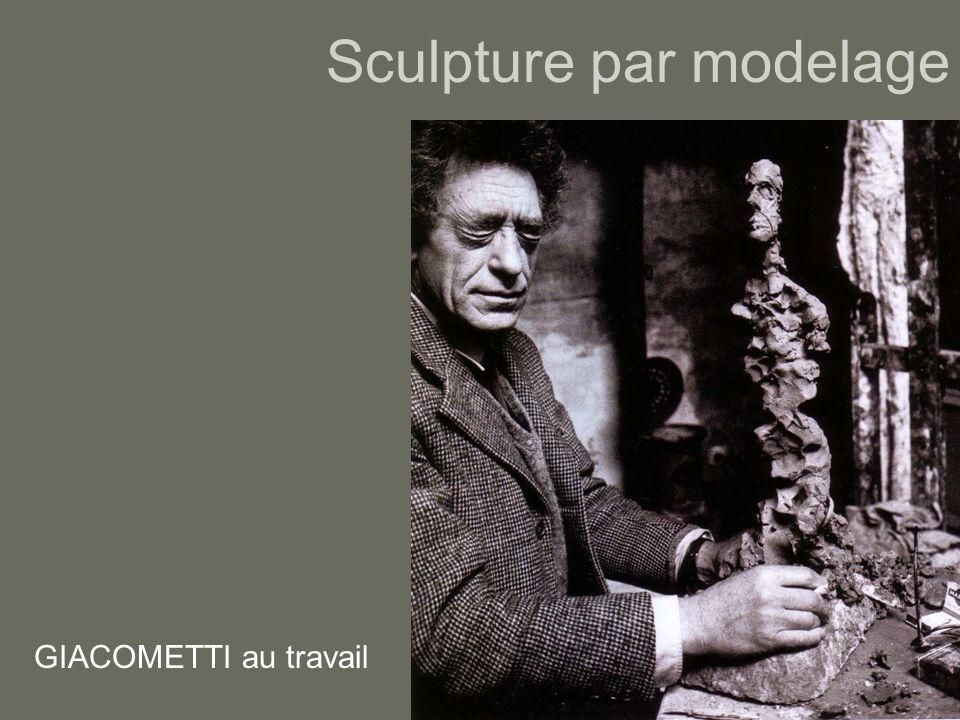 Sculpture par modelage GIACOMETTI au travail