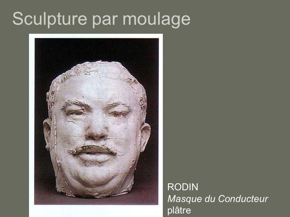 Sculpture par moulage RODIN Masque du Conducteur plâtre