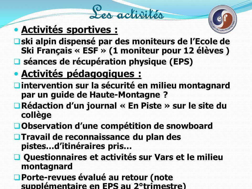 Les activités pédagogiques préparatoires  Préparation physique en EPS (échauffement en acrosport : renforcement musculaire) + renforcement individuel